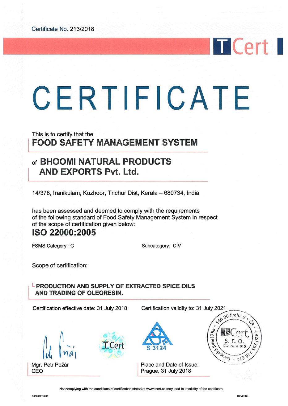 ISO-BHOOMI-NATURAL-PRODUCTS_FSMS_2018